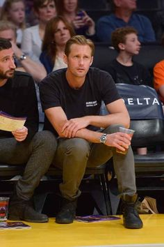 When he went to the basketball game but was totally confused because it wasn't soccer. | The 34 Most Important Things Alexander Skarsgard Did In 2013