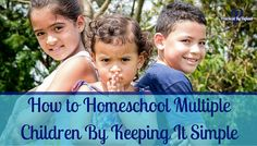 How can you homeschool multiple children of different age groups? Today we are answering reader's questions! Find out how!