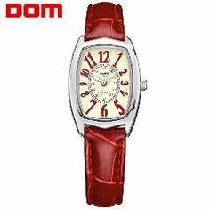 [ 33% OFF ] Dom Luxury Brand Waterproof Style Watch Quartz Leather Women Reloj De Las Mujeres Watches Women