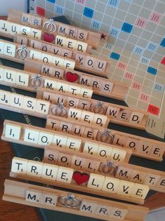 Vintage Scrabble Racks..New Wood, Ivory Scrabble Signs... Wedding/ Anniversary Gifts www.facebook.com/Funkyjunk.Upcycled.UK