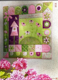 Revista Quilt country-Hors serie---pretty colors!  Just have to make a pink & green quilt one day soon!