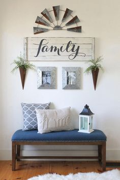 RUSTIC FAMILY SIGN, Family decor sign, farmhouse gallery wall, wood family sign, rustic signs for gallery wall Diy Home Decor Rustic, Entryway Decor, Foyer, Farmhouse Decor, Modern Farmhouse, Rustic Entryway, Farmhouse Style, Vintage Farmhouse, Room Wall Decor