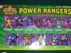 Cool Mighty Morphin Power Rangers toy collection.