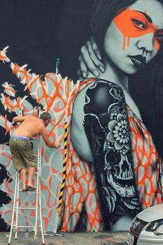 mural en las calles de Brasil