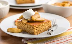 The flavors of autumn come together in this sweet, apple-flavored cake.