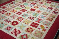 Lella Boutique: Vanessa's Farmer's Wife quilt with Bonnie & Camille fabrics Quilting Projects, Sewing Projects, Quilting Ideas, Modern Quilting, Patchwork Quilting, Dear Jane Quilt, Farmers Wife Quilt, Halloween Quilts, Sampler Quilts