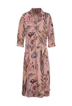 Jurk met kimono look Rood