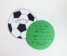 WM-Einladungen Fußball Football Theme Birthday, Football Themes, 10th Birthday, Baby Games, Soccer Ball, How To Plan, Common Sense, Confused, Boards