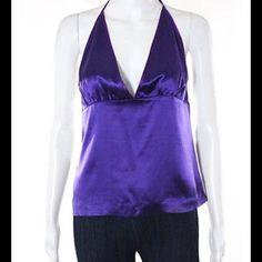 Cynthia Rowley silk halter top Purple Cynthia Rowley 100 % silk halter top Cynthia Rowley Tops Camisoles
