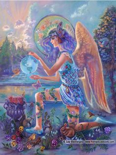 GUARDIAN ANGEL OF THE WORLD - art by Judy Mastrangelo