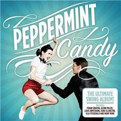 Peppermint Candy CD Cover Hair & Make Up Lipstick & Curls Glenn Miller, Cd Design, Ella Fitzgerald, Lindy Hop, Louis Armstrong, Alternative Hair, Peppermint Candy, Typography, Lettering