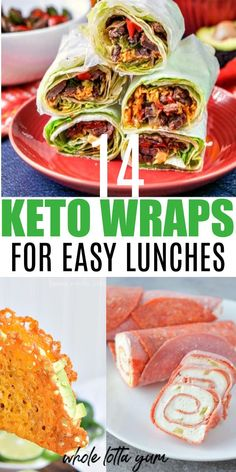 Recipes Snacks Lunch Ideas 14 keto lunch ideas of easy low carb and healthy keto wraps. You won't need to miss sandwiches on a keto diet when you eat low carb lettuce wraps, cheese wraps, meat wraps, keto tortilla recipes and more. Keto Lunch Ideas, Lunch Recipes, Tortilla Recipes, Diet Recipes, Health Recipes, Low Card Lunch Ideas, Steak Recipes, Casserole Recipes, Cooking Recipes