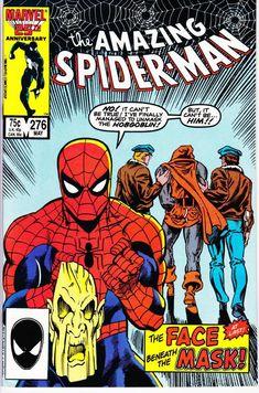 Amazing Spider-Man 276 1963 Series May 1986 Marvel Marvel Comics, Marvel Comic Books, Comic Books Art, Marvel Characters, Comic Art, Book Art, Hobgoblin, Marvel Girls, Vintage Comic Books