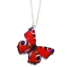 Red Butterfly Acrylic Necklace - Quirky Necklaces - Necklaces - Jewellery