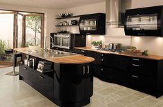 Avant Black Contemporary Gloss Kitchen