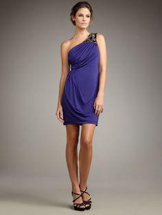 Sheath Column One Shoulder Rhinestone Sleeveless Chiffon Homecoming Dresses