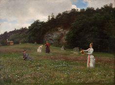 Gude, Hans Fredrik (1825-1903) Flowers of the Meadow, Hankø (1888)