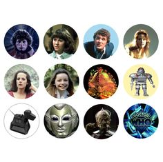 DOCTOR WHO 4th Doctor Tom Baker Set of 12 - 1 Inch Button Magnets. $7.99, via Etsy.