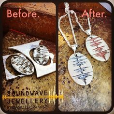 """""""You are beautiful, you are perfect just they way you are..."""" #SoundwaveJewellery #madewithlove #madetolast #madebyhand #madeincanada #studiolife #pendant #music #love #custom #unique #jewellery"""
