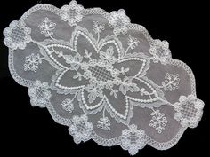 Off white lace oval doily by DoiliesLaceCrafts on Etsy