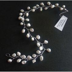 tolle Haarranke üppig mit Perlen zur Hochzeit