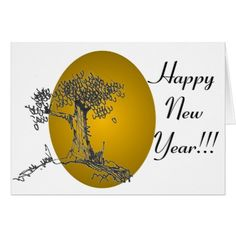 Gold Happy New Year Card - New Year's Eve happy new year designs party celebration Saint Sylvester's Day