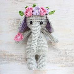 Слоник-обнимашка - схема вязания крючком игрушки амигуруми