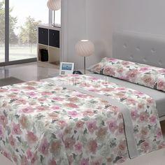 Juego de Sábanas ARNIA Javier Larrainzar.  Renueva tu ropa de cama con los nuevos estampados primaverales que nos ofrece la firma Javier Larrainzar. Este juego de sábanas lo puedes conseguir en tonos grises o violetas.