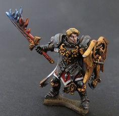 Almaran the Gold, Paladin. Reaper Miniatures