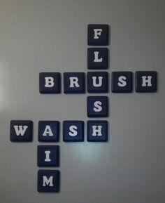 cute for bathroom, hilarious for bathrooms with little boys :)