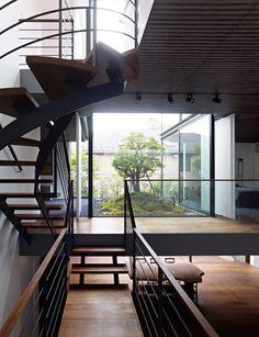 House S by Keiji Ashizawa Design Architecture Details, Interior Architecture, Interior And Exterior, Interior Design, Interior Stairs, Amazing Architecture, Modern Interior, Modern Stairs, Japanese House