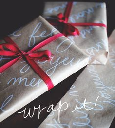DIY Christmas Wrap