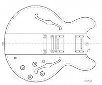 Iceman Gitarre Schablone templates Gitarrenbau