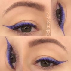 Alicia Ventimiglia @aliciaisis77 Instagram Photos | Makeup Artist #purpleliner #wingedliner