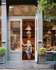 Retail Store Design Midcentury Photo - DwellStudio founder Christiane Lemieux outside her SoHo shop