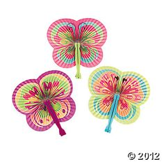 Butterfly-Shaped Folding Fans, Party Favors, Party Themes & Events - Oriental Trading