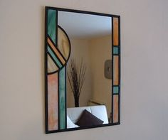 Stained Glass Mirror - Art Deco / Prism | eBay