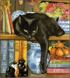 Black cat by Chrissie Snelling