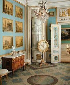 Blue print room.