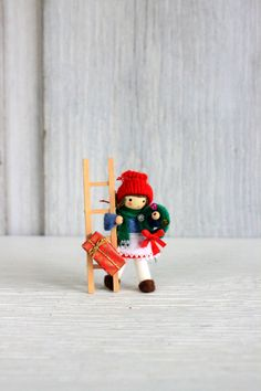 vintage Christmas decoration // Christmas doll by umbrellafant, $6.00