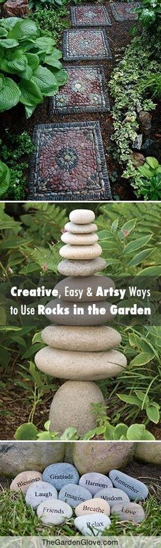 Got Stones? Creative, Easy and Artsy Ways to Use Rocks in the Garden! • Tips, ideas & Tutorials! by phototheque