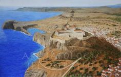 The Acropolis of Lindos, Greek City State on the Island of Rhodes, 200 BC - Archaeology Illustrated