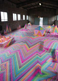 Pip & Pop | As instalações coloridas e doces de Tania Schultz - Pêssega D'Oro