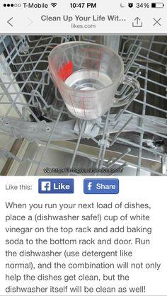 Vinegar dishwasher cleaner