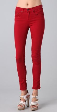 if I could afford 176 dollars for a red pair of jeans haha...