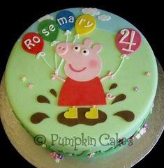 Peppa Pig birthday cake - Kindergeburtstag - For Life Food Tortas Peppa Pig, Bolo Da Peppa Pig, Peppa Pig Birthday Cake, Birthday Cake Girls, Birthday Cupcakes, Peppa Pig Cakes, Birthday Kids, Birthday Parties, Girl Cakes