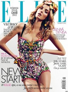 On the January issue of ELLE Czech, model Denisa Dvorakova's arms channeled Barbie's freakishly sharp angled limbs. Furthermore, the synthetic looking visage of her face doesn't adds to her plastic-doll appearance.