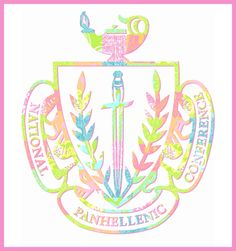 Love the idea of the Panhellenic crest on the pocket of a Rho chi t shirt!