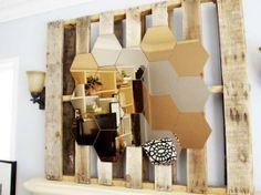 ::BATHROOMS:: A fun idea for a mirrored wall