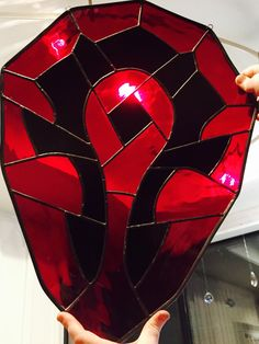For the HORDE! World of warcraft large stained glass shield by GlassOfWrath on Etsy https://www.etsy.com/listing/256461364/for-the-horde-world-of-warcraft-large